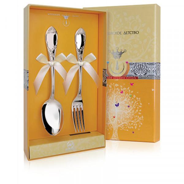 """Набор десертный """"Престиж"""", ложка и вилка, арт.: 394НБ02801 (381ВЛ02001, 380ЛЖ02001)"""