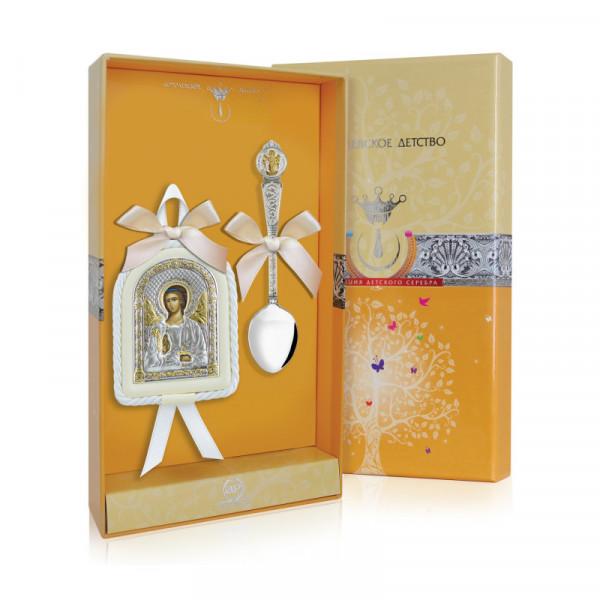 """Набор подарочный """"Ангел-Хранитель"""" (ложка, икона), арт.: РИ193НБ00802"""