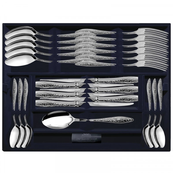 """Набор столовых приборов """"Морозко"""", 24 предмета (вилки, ножи, ложки), арт.: 1193НБ01801"""