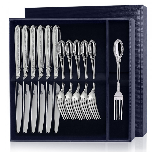 """Набор десертный """"Император"""", 12 предметов (вилки, ножи), арт.: 236НБ02801"""