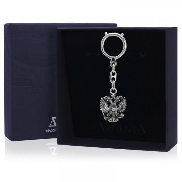 """Брелок для ключей """"Герб"""" с чернением, арт.: 943БР15006"""