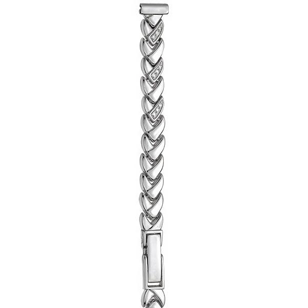 Серебряный браслет для часов (10 мм) Арт.: 026013