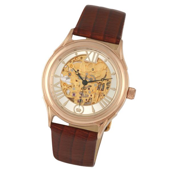 Мужские золотые часы «Скелетон» Арт.: 41950.157