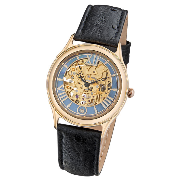 Мужские золотые часы «Скелетон» Арт.: 41950.357