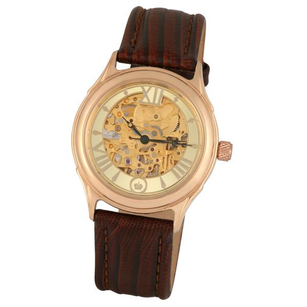 Мужские золотые часы «Скелетон» Арт.: 41950.457