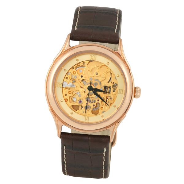 Мужские золотые часы «Скелетон» Арт.: 41950.458