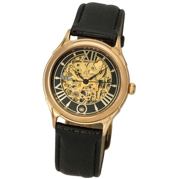 Мужские золотые часы «Скелетон» Арт.: 41950.557