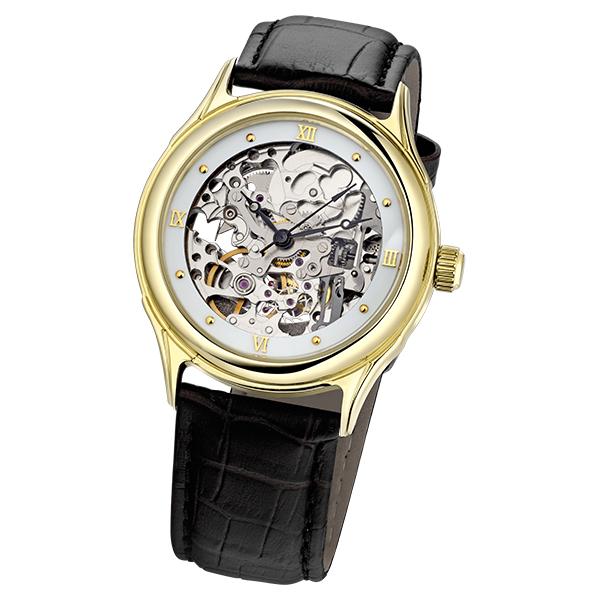Мужские золотые часы «Скелетон» Арт.: 41960.158