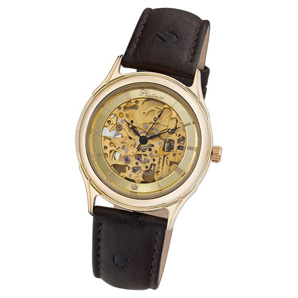Мужские золотые часы «Скелетон» Арт.: 41960.456