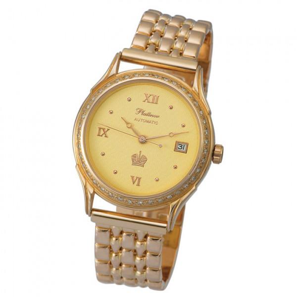 Мужские золотые часы «Юпитер» Арт.: 50451А.422 на браслете Арт.: 42022