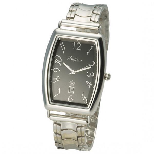 Мужские серебряные часы «Балтика» Арт.: 54000.505 на браслете Арт.: 042019