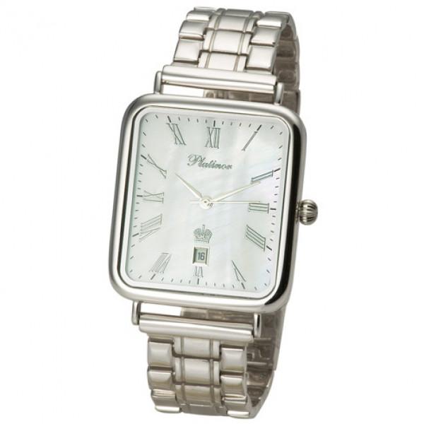 Мужские серебряные часы «Атлант» Арт.: 54600.315 на браслете Арт.: 042015