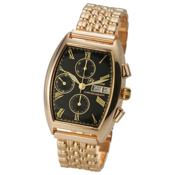 Мужские золотые часы «Маршал» Арт.: 58150С.515 на браслете Арт.: 42023
