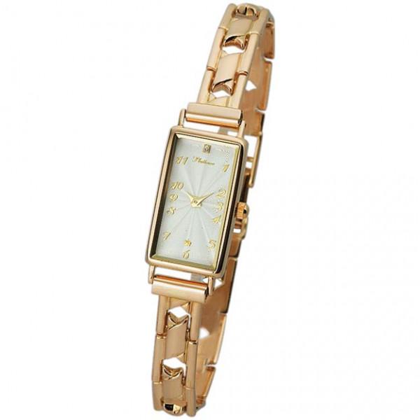 Женские золотые часы «Констанция» Арт.: 42550.111 на браслете Арт.: 52241