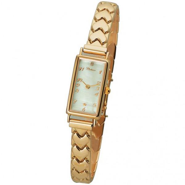 Женские золотые часы «Констанция» Арт.: 42550.305 на браслете Арт.: 52210