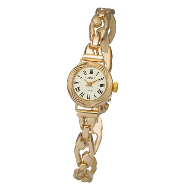 Женские золотые часы «Злата» Арт.: 44130-2.221 на браслете Арт.: 51239
