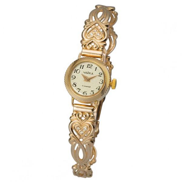 Женские золотые часы «Злата» Арт.: 44150-3.405 на браслете Арт.: 5165023