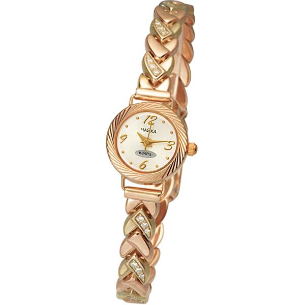 Женские золотые часы «Злата» Арт.: 44130-5.206 на браслете Арт.: 316013