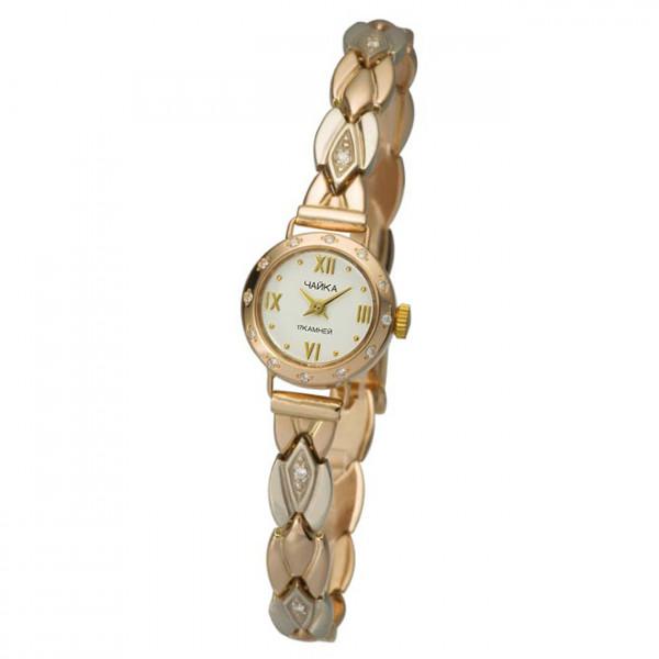 Женские золотые часы «Злата» Арт.: 44136.216 на браслете Арт.: 316234