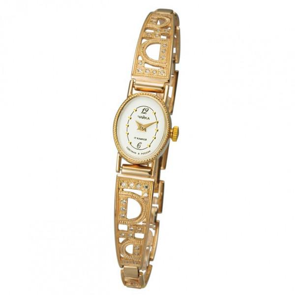 Женские золотые часы «Нежность» Арт.: 44350-2.152 на браслете Арт.: 5165019