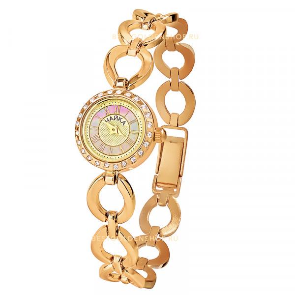 Женские золотые часы «Виктория» на корпус-браслете, арт.: 46736.317