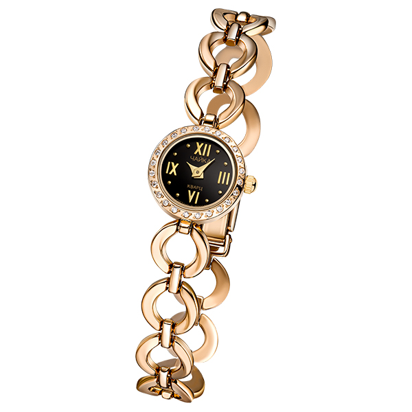 Женские золотые часы «Виктория» на корпус-браслете, арт.: 46736.516
