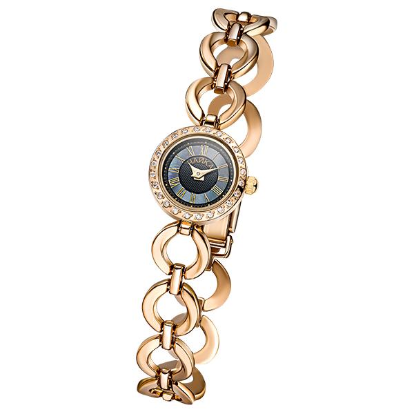 Женские золотые часы «Виктория» на корпус-браслете, арт.: 46736.517