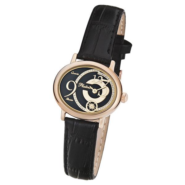 Женские золотые часы «Аврора» Арт.: 74050.528