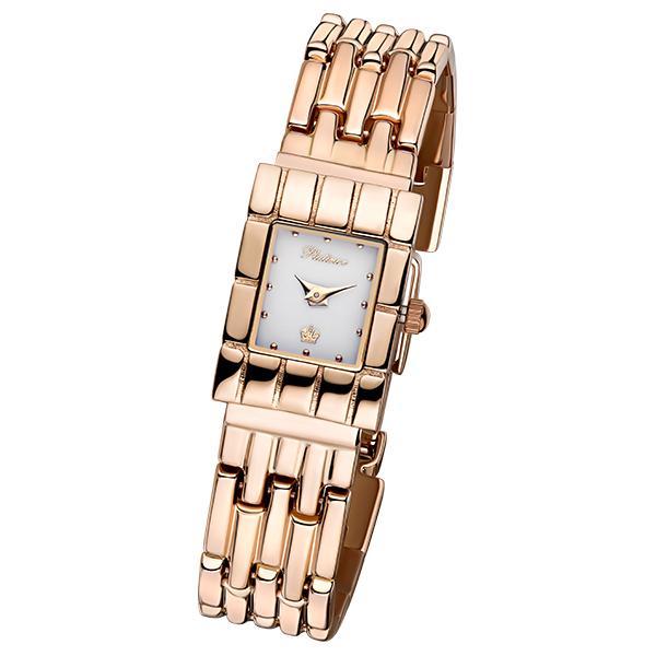 Женские золотые часы «Линда» Арт.: 90150.101 на браслете арт. 53273