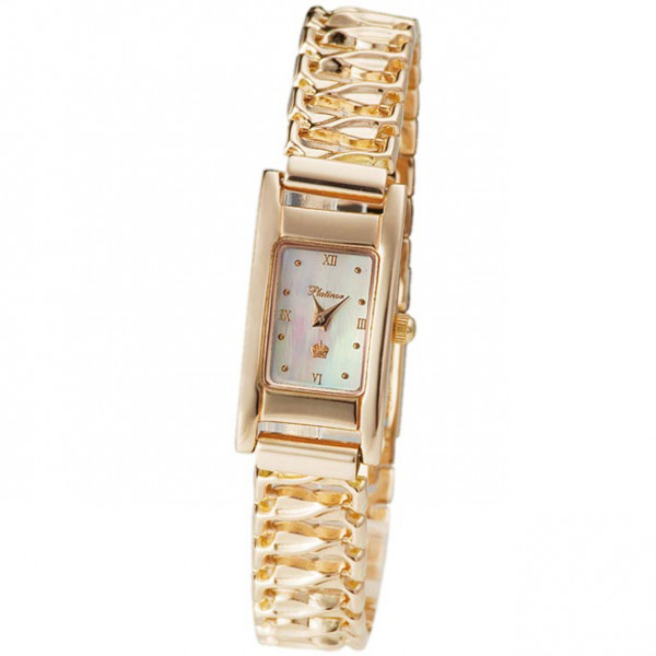 Женские золотые часы «Мадлен» Арт.: 90550.316 на браслете Арт.: 52013