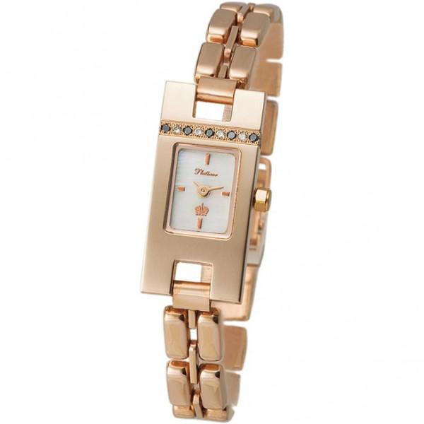 Женские золотые часы «Северное сияние» Арт.: 91455.303 на браслете Арт.: 50585