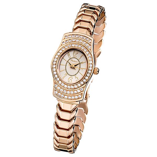 Женские золотые часы «Веста» Арт.: 96156.110 на браслете арт.: 52723