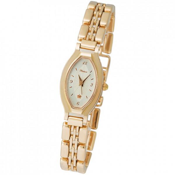 Женские золотые часы «Лаура» Арт.: 98050.112 на браслете Арт.: 50587