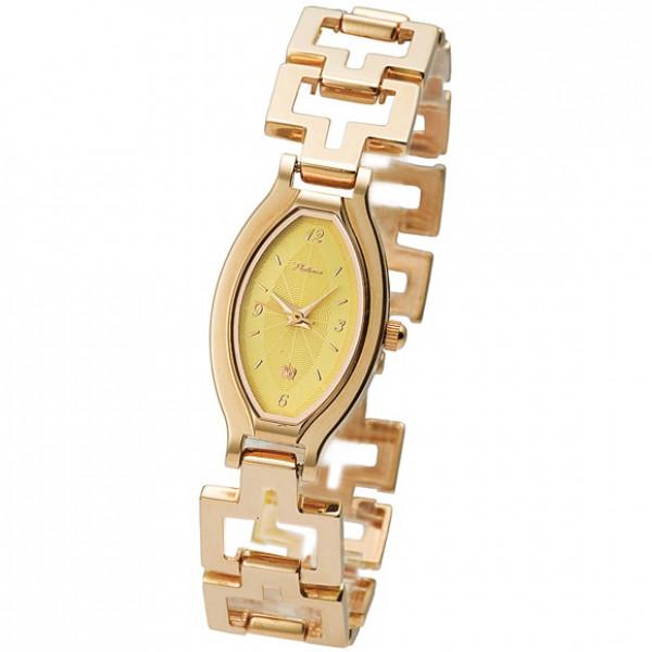Женские золотые часы «Лаура» Арт.: 98050.412 на браслете Арт.: 5005002