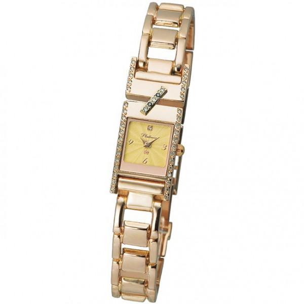 Женские золотые часы «Моника» Арт.: 98855-4.412 на браслете Арт.: 53226