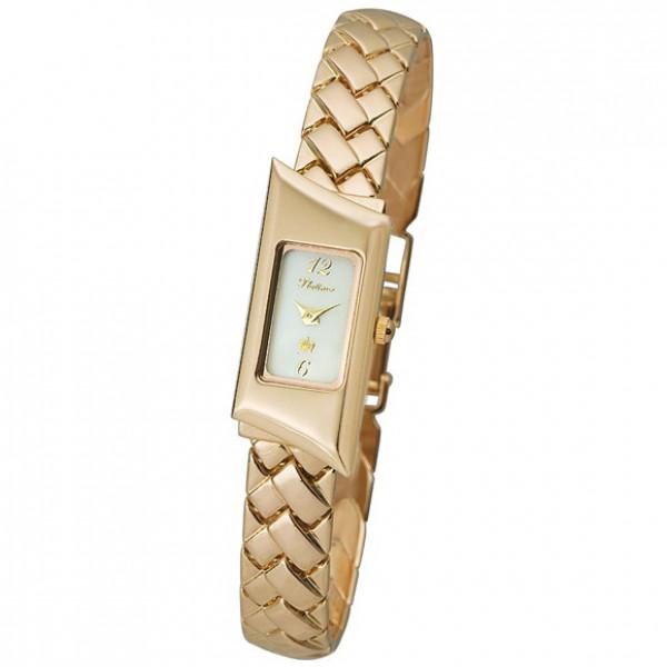 Женские золотые часы «Габриэль» арт.: 99050.306 на браслете арт.: 53225
