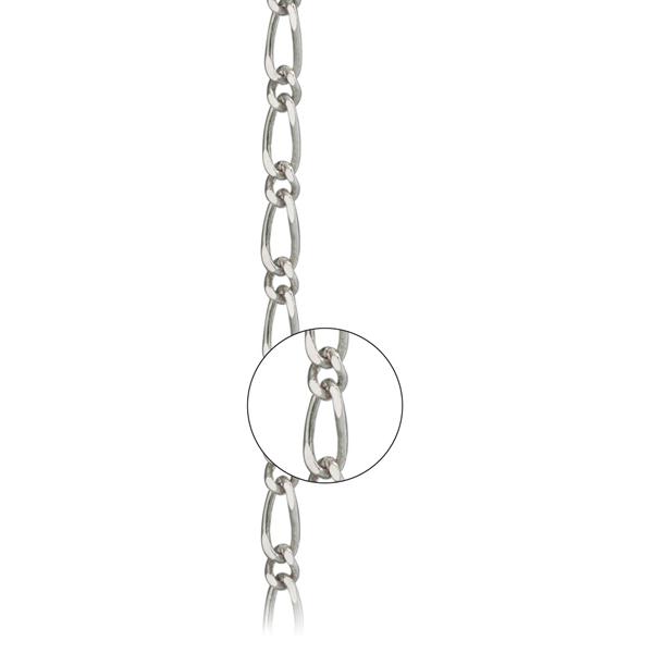 Серебряная цепь «Фигаро 1+1», арт.: 800600