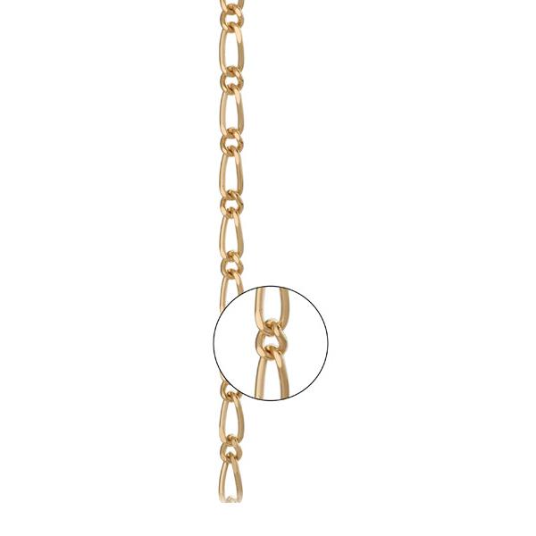 Золотая цепь «Фигаро 1+1», арт.: 800650
